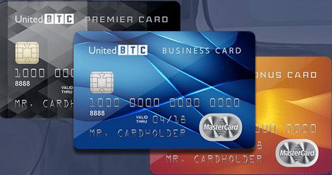 tarjetas disponibles en UBTC